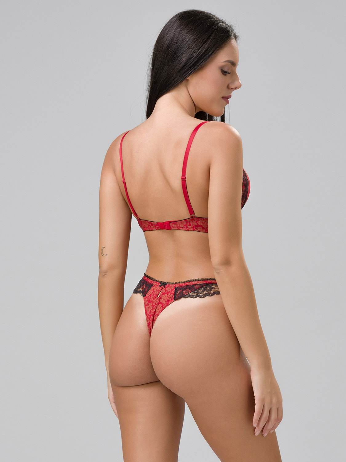 Burlesque 14102 super push-up & 24100 string red back