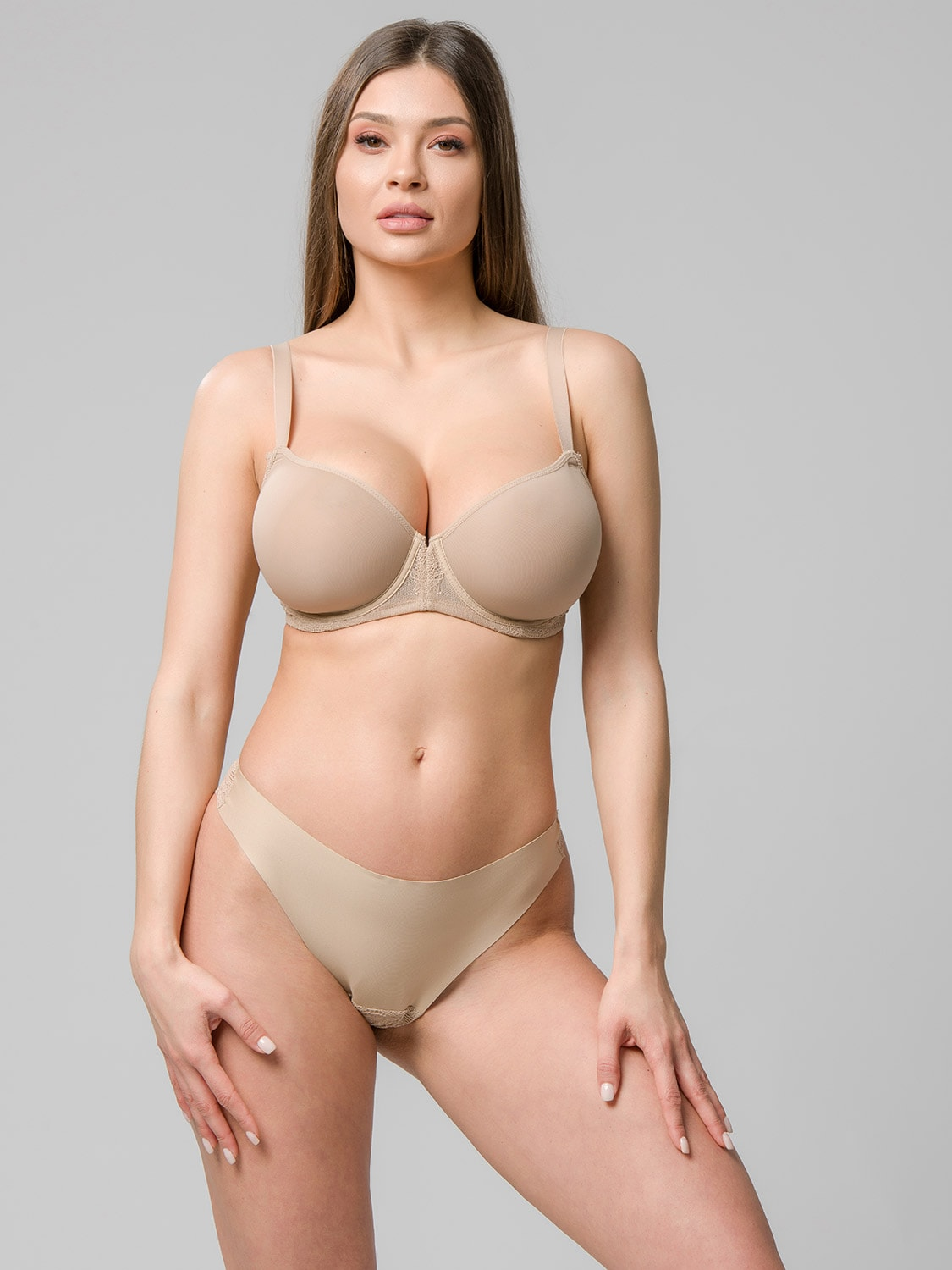 Perfect fit spacer balconette 14103 & brazilian 24102 beige front