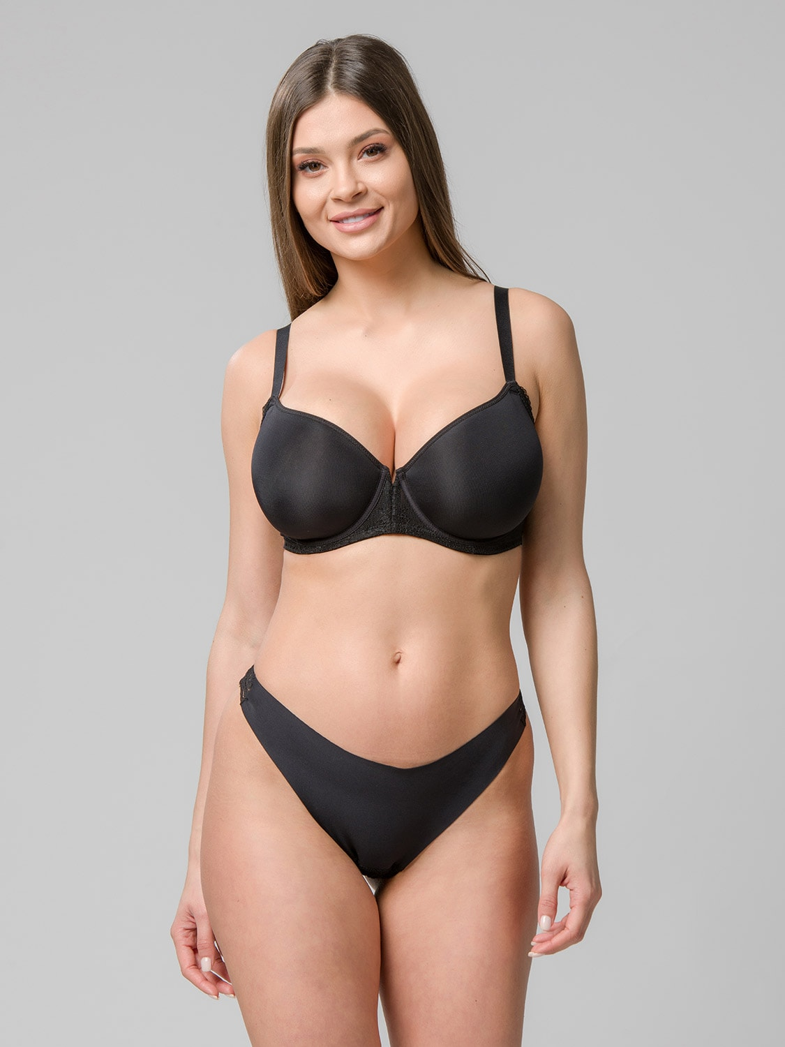 Perfect fit spacer balconette 14103 & brazilian 24102 black front